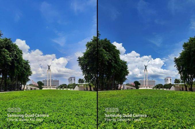 مقایسه دوربین a71 و a51