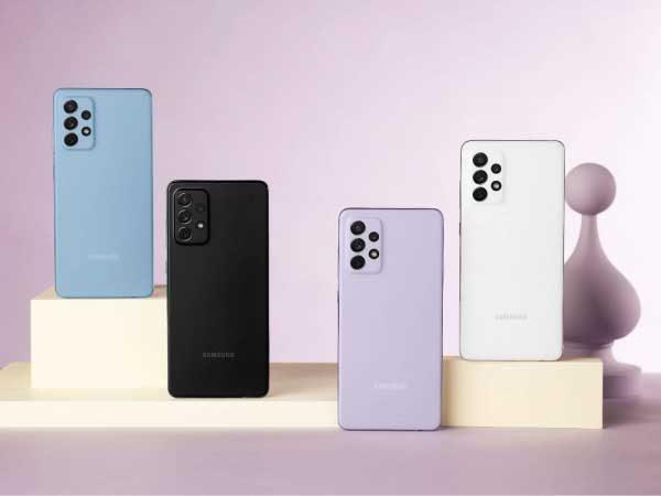 مقایسه گوشی a52 با a72