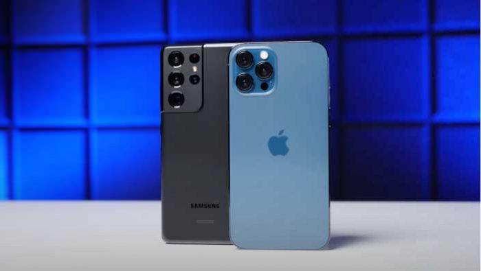 مقایسه s21 ultra با iphone 12 pro max از نظر طراحی و کیفیت ساخت