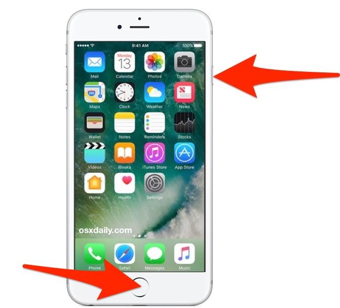 نحوه گرفتن اسکرین شات ایفون و ایپد,عکس گرفتن از صفحه ایفون و ایپد