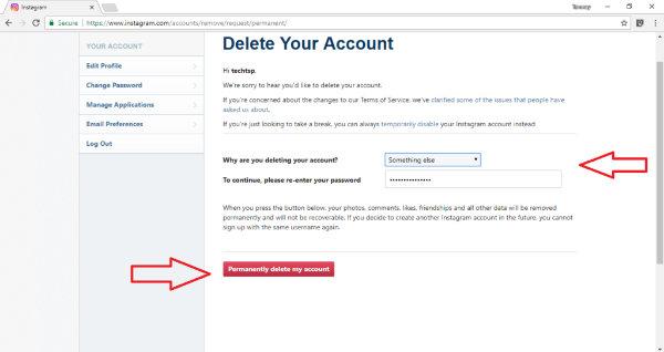 پاک کردن اکانت اينستاگرام,حذف اينستاگرام,حذف کردن حساب اينستاگرام