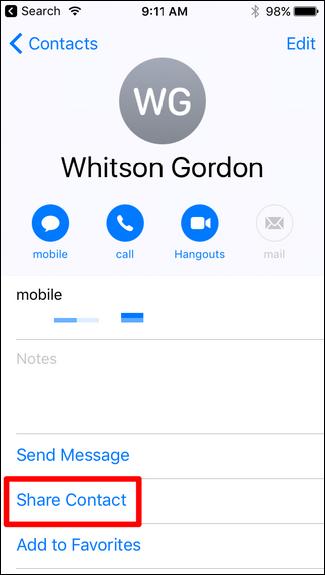 فرستادن شماره مخاطب از طریق اس ام اس در گوشی آیفون , تعمیر گوشی آیفون