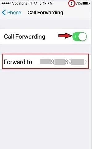 دایورت در آیفون , انتقال تماس ها در گوشی آیفون